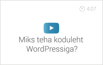 miks-teha-koduleht-wordpressiga